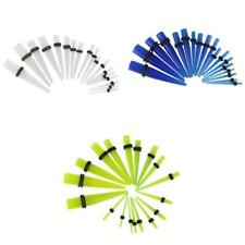 10 Pairs Acrylic Ear Plug Colored Taper Stretching Kit Ear Expanders Stretchers