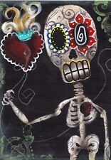 Take my Heart Fine Art Print by Abril Andrade Sugar Skull Day of the Dead Sacred