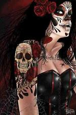 Dia de los Muertos Fine Art Print by Kris Chisholm Day of the Dead Tattooed Girl