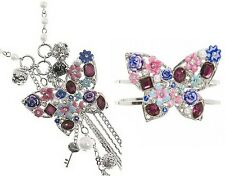 NWT Guess BUTTERFLY CHARM NECKLACE or Butterfly Hinge Bracelet