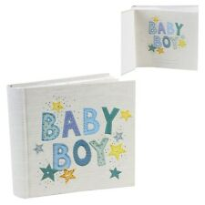 "Baby Boy or Girl Gift Photo Album Holds 80 6x4"" Photos NEW"