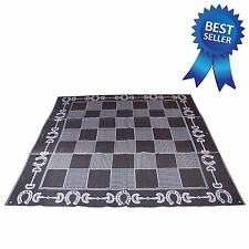 Horse stall set up mat, horseshoe design, for horse shows or tack room