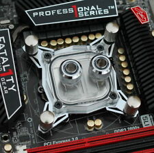 New LED Clear Micro Channel CPU Water Cooling Block Head Base for Intel AMD