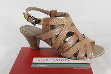 Marco Tozzi Women's Sandals, light brown, Real leather, Rubber sole NEW