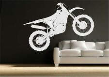 Crosser Motocross Bike Wall Sticker Bedroom Stencil Transfer Art Decal Mural