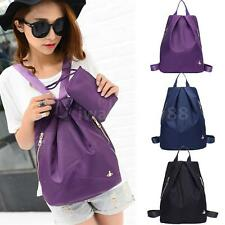 Unisex Girls Mens Women Backpack Zippers Shoulder Schoolbag Rucksack Nylon C9KE