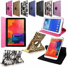 For Samsung Galaxy Tablet Rotating PU Leather Flip Folio Swivel Stand Case Cover