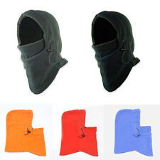 1X Mens Black Snood Fleece scarf Hood Balaclava Neck Winter Warmer Face Mask
