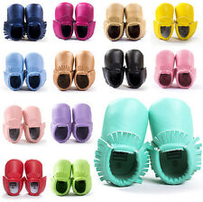 New Baby Kids Tassel Soft Sole Leather Shoes Infant Boy Girl Toddler Moccasin
