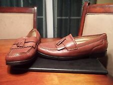 Rockport Brown Leather Casual Tassel Driving Loafers Mens Comfort Shoes Sz 12 M