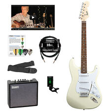 Squier by Fender Bullet Strat with Tremolo Electric Guitar with Accessoies