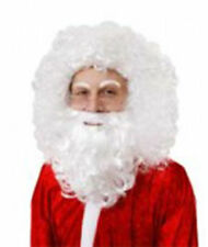 White Curly Santa Beard and Wig Combo Elf Old Man Christmas Old Father Time