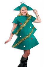 Fancy Dress Christmas Tree Costume Adults Novelty Xmas Office Party Tinsel Stars