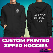 Custom Printed Zipped Hoodies | Personalised Workwear Printed Full Zip Hoodies