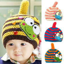 Fashion Infant Cute Baby Kids Knit Sweater Cap Boy Girl Winter Warm Hat Ornate