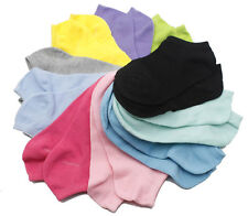 1x 2x 5x Lot Girl Solid Color Cotton Casual Short Ankle Boat Low Cut Sport Socks