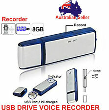 8GB USB Flash Drive Disk Digital Audio Voice Recorder Pen Spy Memory Dictaphone