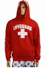 Lifeguard Hoodie Life Guard Sweatshirt Red Officially Licensed Beach Shirt Gift