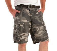 LICENSED LEE DUNGAREES CAMOUFLAGE ASH CAMO CARGO MENS BELTED SHORTS W SZ 30 BNWT