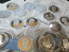 UK SILVER PROOF PRINCESS DIANA COINS VARIOUS £5 /CROWNS/RUPEES/ DOLLARS