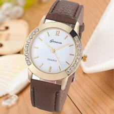 Christmas Fashion Casual Geneva Women  Analog Leather Quartz Wrist Watch Watches