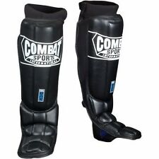 "COMBAT SPORTS SHIN GUARDS-GEL SHOCK PRO STYLE  W/FREE RIVAL MEX 180"" HAND WRAPS"