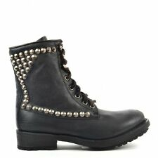 Ash Shoes Ralph Black Leather Tarnished Studded Boot RRP£239