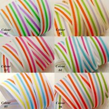 "Grosgrain Ribbon 16mm 5/8"" Sporty Stripes"