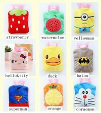 New Cartoon MINI Soft Plush HOT WATER Bottle bag winter Hand Foot Warmer& covers