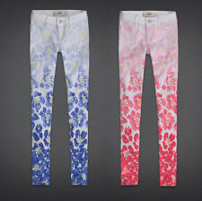 NWT AUTH Hollister by Abercrombie Hollister Super Skinny Ankle Jeans FLower 3