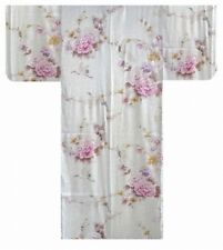 Woman's KIMONO(crane & peony) with OBI SILK Authentic JAPAN SLK974