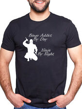 BINGO ADDICT BY DAY NINJA BY NIGHT PERSONALISED T SHIRT
