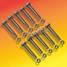 10 Pack Snow Blower Shear Pins & Nuts For MTD Snow Throwers With An Auger Drive