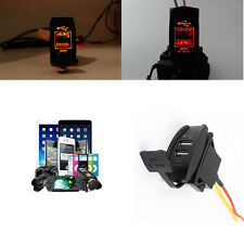 12V 24V Car Auto Boat Accessory Dual USB Charger Power Adapter LED Outlet Gifts