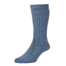 Mens HJ Hall Softop Loose Wide Top Non Elastic Thicker Wool Rich Plain Socks