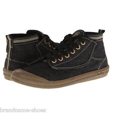 DUNLOP MENS HI LEAP BLACK GUM TAN CASUAL LACE UP BOOTS VOLLEY VOLLEYS SHOES