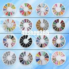 SMILING FACE BEADS RHINESTONES FIMO CLAY WHEEL NAIL ART SLICES DECORATION TIPS
