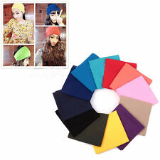 Solid Colors Scarf Tube Bandana Head Face Mask Neck Gaiter Snood Headwear Beanie