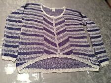Love on a Hanger Junior Sweater Top Striped Blue/White Sz XS style:  L0415Y035