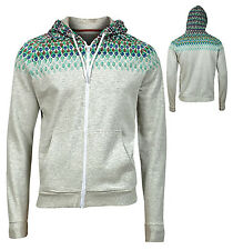 Brave Soul Mens Hoodie Hoody Full Zip Grey Marl Nice Item Size S - XL New
