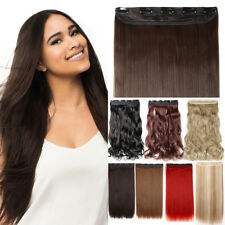 Natural One Piece Half Full Head Clip In Hair Extension human like AU Post IW16