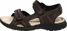 Dockers Mens Sandals leather briar fisherman latimer solid brown size 13 NEW