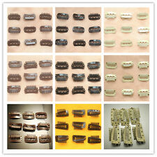 New 28-36mm U Shape 50Pcs Snap Metal Clips For Hair Extensions Weft Clip-on Wig