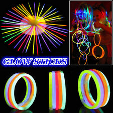 New DIY 8'' Premium Glow Sticks Lightsticks Bracelets Necklaces Neon Party Lot