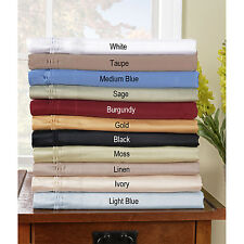 UK EMPEROR SIZE ALL SOLID BED SET-SHEETS/DUVET/FITTED 1000TC EGYPTIAN COTTON