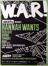 OFFICIAL What Hannah Wants W.A.R Ibiza Rocks 18th September 2015 Club Poster