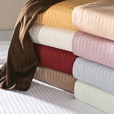 UK EMPEROR SIZE ALL STRIPE BED SET-SHEETS/DUVET/FITTED 1000TC EGYPTIAN COTTON