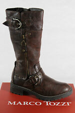 Marco Tozzi Boots, Winter boots, brown, padded, Threaded sole RV NEW