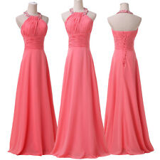 Simple Style Women Halter Dress Prom Cocktail Party Dress Formal Evening Dresses