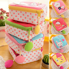 Adorable Cartoon Sanitary Napkin Towel Pads Small Bag Purse Holder Organizer
